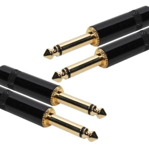 "SuperFlex GOLD SFP-210QQ Dual 1/4"" TS to 1/4"" TS Patch Cable - 10'"