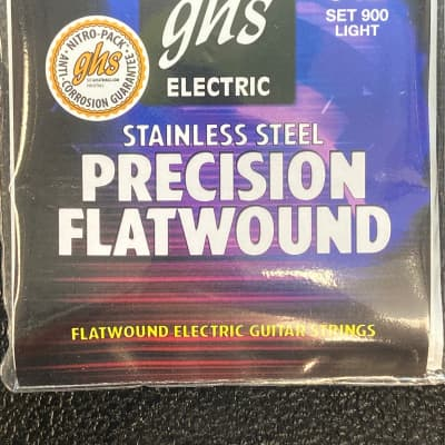 GHS 900 Precision Flats Flatwound Electric Guitar Strings  Light (9-50)