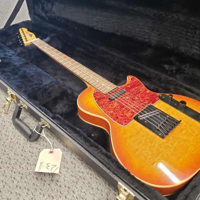 ST. BLUES ST CUSTOM AMBER QUILT Electric Guitar Sunburst w/ OHSC for sale
