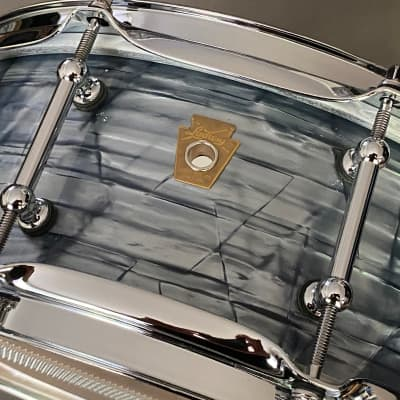 """Ludwig Legacy Classic 5"""" x 14"""" Snare Drum Sky Blue Pearl"""