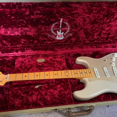 UPGRADED - Nitro Fender 60th Anniversary Classic Player '50s Stratocaster Desert Sand 2014 for sale