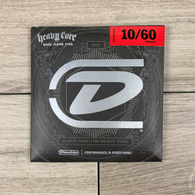Dunlop Heavy Core Nickel Wound Electric Guitar Strings, 10-60, Heavy
