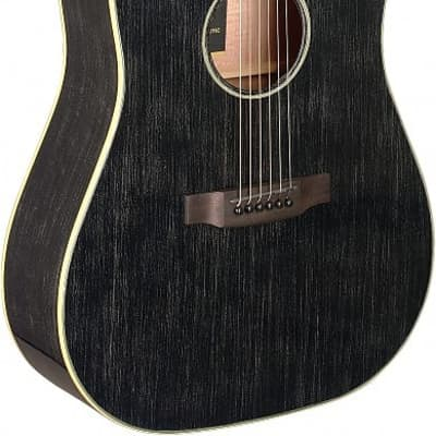 James Neligan YAK-DCFI Dreadnought Cutaway Solid Mahogany Top 6-String Acoustic-Electric Guitar for sale