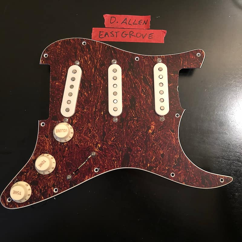 David Allen Eastgrove 50s Pickups Loaded Pickguard Pre-Wired Wiring on