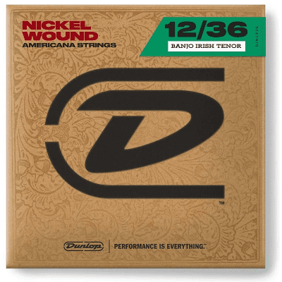 Dunlop DJN1236 Nickel Wound Loop End Irish Tenor Banjo Strings (12-36)