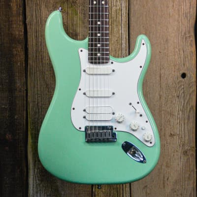 Fender Jeff Beck Artist Series Stratocaster with Lace Sensor Pickups 2001 Surf Green for sale