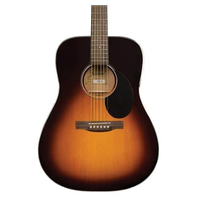 Jasmine JD-39 Dreadnought Acoustic Guitar, Sunburst w/ Hard Case for sale