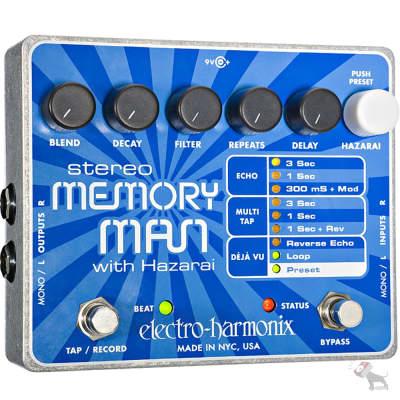 Electro-Harmonix Stereo Memory Man w/ Hazarai Digital Delay Looper Guitar Effect