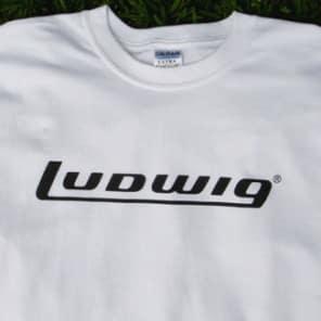 4c5e94a7de9 LUDWIG DRUMS Logo T-Shirt - Size EXTRA LARGE - White w  Black Letters