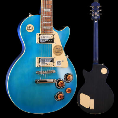 Epiphone ENT2OBSNH3 Ltd Ed Les Paul Traditional PRO-II, Ocean Blue, Nickel Hardware S/N 17051507382 8lbs 2.4oz for sale