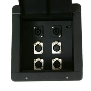 Elite Core Audio FB4-SP Recessed Floor Box with 4 XLR Female, 2 Speakon Connectors