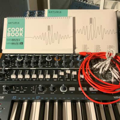 (USED ONCE) Flawless Arturia MiniBrute 2 Semi-Modular Analog Monosynth + Hi Quality Deep Red MIDI Cable (Brand new/Unused)