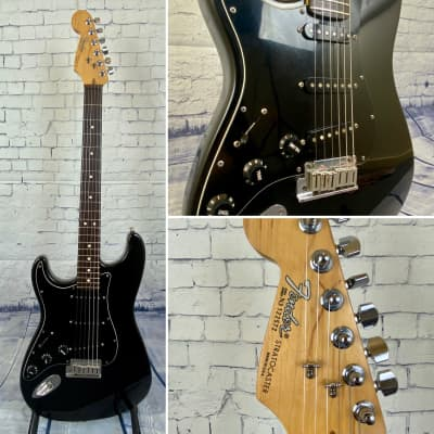 Fender  USA Standard Stratocaster LEFT HAND rosewood board  1993 Black/black for sale