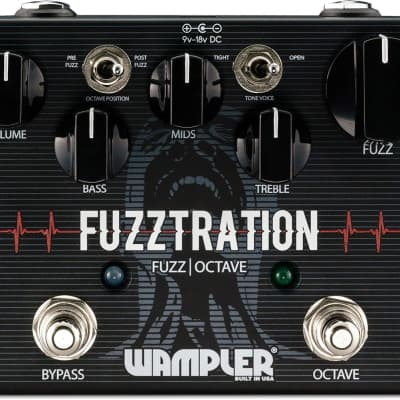 Wampler Fuzztration Octave Fuzz Pedal for sale