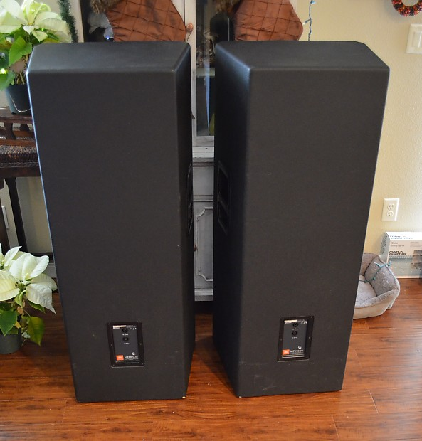 2 jbl mrx525 2 way audio professional loud speakers dual reverb. Black Bedroom Furniture Sets. Home Design Ideas