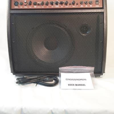 """Crossroads 40 Watt RMS Acoustic Guitar Amplifier-10"""" Speaker and Tweeter-w/-Effects"""