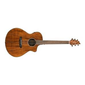 Breedlove Pursuit Concert KK Limited Edition Figured Koa Cutaway Acoustic/Electric Guitar Gloss Natural 2016