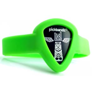 Pickbandz PBW-SM-GR Wristband Guitar Pick Holder - Youth/Adult Small