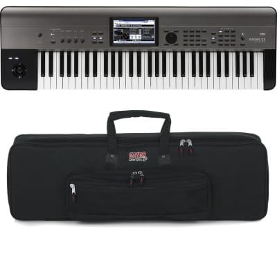 Korg Krome EX 61 – Music Workstation, Gator GKB-61 Bag Bundle