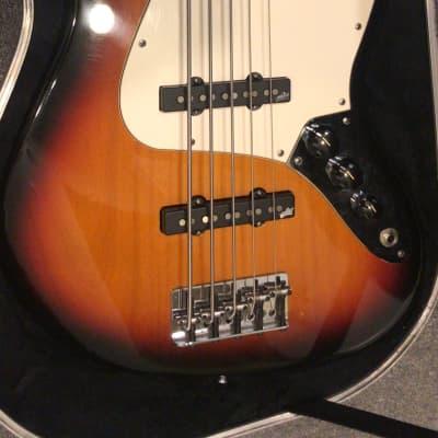 Fender American Jazz Bass V With Noiseless Aguilar Pickups 2000 Sunburst for sale