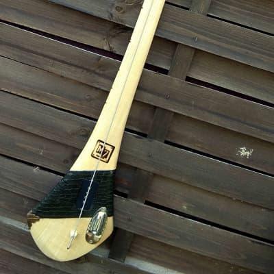 M7Instruments Hurley Stick bass 1 corde fretless 2020 naturel / cuir for sale