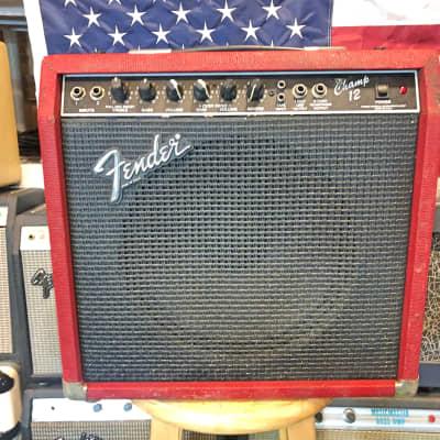 Fender Champ 12 All Tube Combo 1987 Red Snakeskin (Rare) for sale