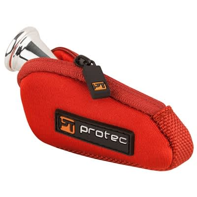 Protec French Horn Neoprene Mouthpiece Pouch Red