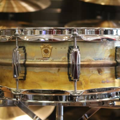"Ludwig LB454R Raw Brass Phonic 5x14"" Snare Drum"