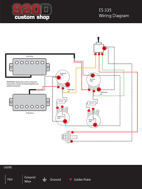 duncan hot rodded humbucker pickup set, zebra + es335 50's | reverb hot rod humbucker wiring schematics #8