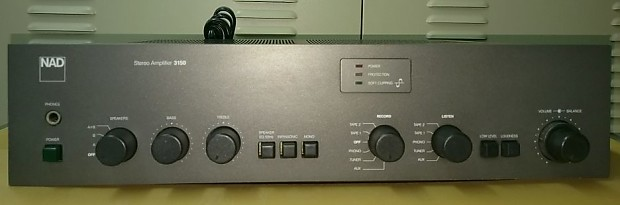 NAD 3150 Integrated Stereo Amplifier Gray for Parts, Repair or Restoration