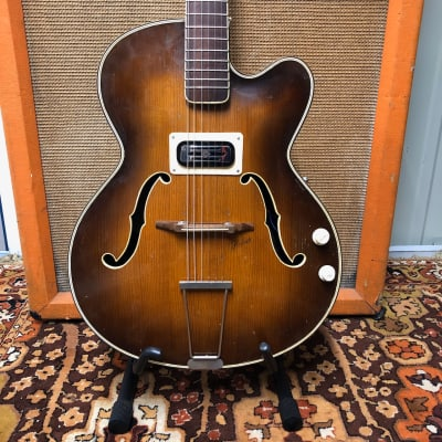 Vintage 1953 Hofner President Brunette Sunburst Electric Guitar *1st Year* No573 for sale