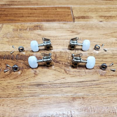 Cordoba 2x2 Ukulele Tuning Machines - Nickel w/ Pearl Buttons for sale