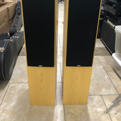 Pair of B&W CM4 Bowers and Wilkins Floor Standing Loud Speakers - Maple Finish