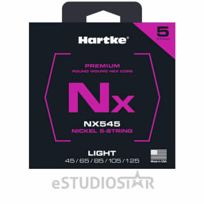 Hartke HSBNX545 5-String Light Premium Nickel Bass Strings