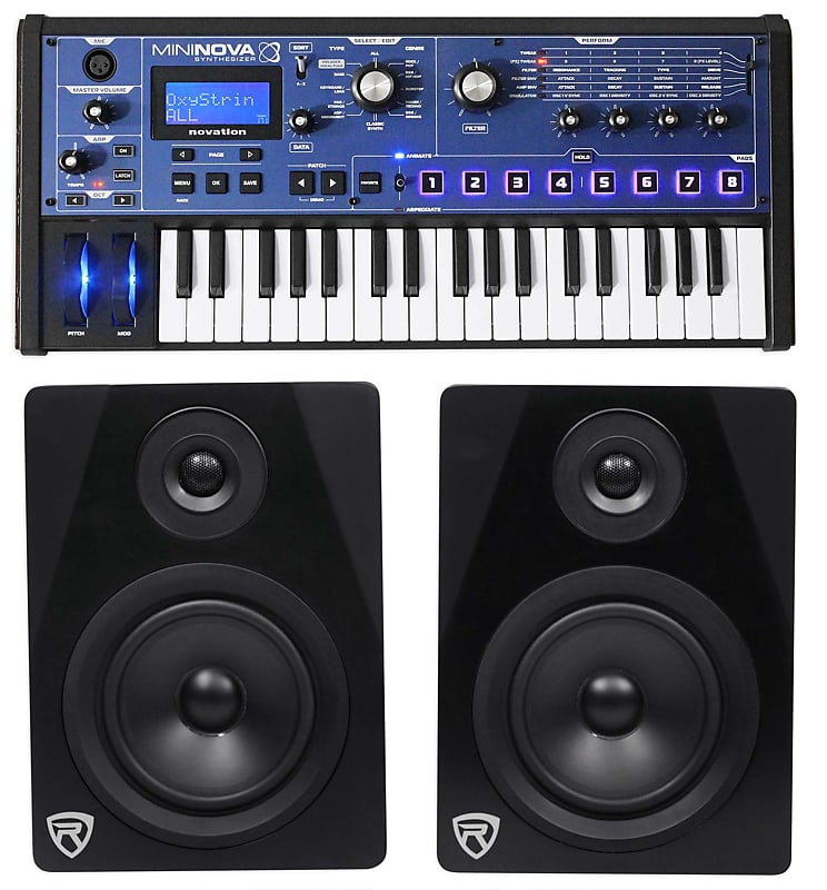 novation mininova 37 key studio usb midi keyboard synthesizer reverb. Black Bedroom Furniture Sets. Home Design Ideas