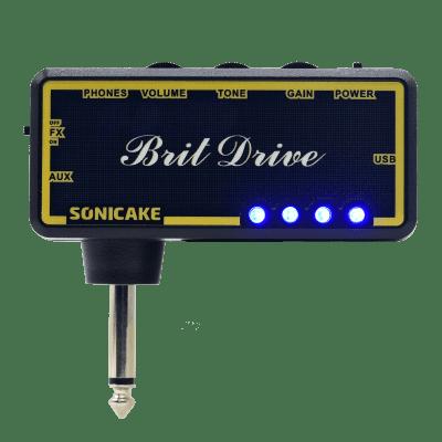 SONICAKE Guitar Headphone Amp Plug-In Brit Dirve w/h Chorus & Reverb Effects & Classic Distortion/Cr