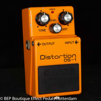 Boss DS-1 Distortion s/n 0200 Long Dash, Silver Screw with Toshiba TA7136AP op amp Japan