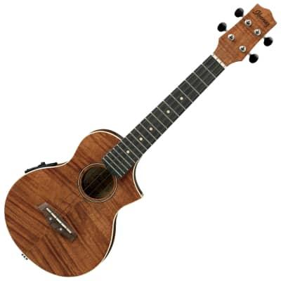 Ibanez UEW15E Flamed Mahogany Concert Acoustic/Electric Ukulele