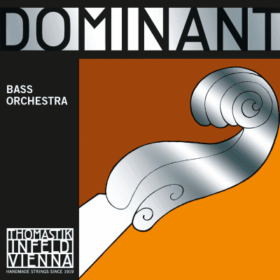 Thomastik-Infeld 196 Dominant Chrome Wound Synthetic Core 3/4 Double Bass Orchestra String Set - Medium
