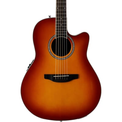 Ovation Applause Standard Mid Depth Acoustic Electric Guitar - Honey Burst for sale