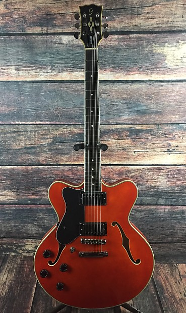 giannini gsh 202 semi hollow guitar orange with road runner reverb. Black Bedroom Furniture Sets. Home Design Ideas