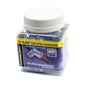 Platinum Tools 202003J EZ-RJ45 CAT5E Connectors (100-Pack)