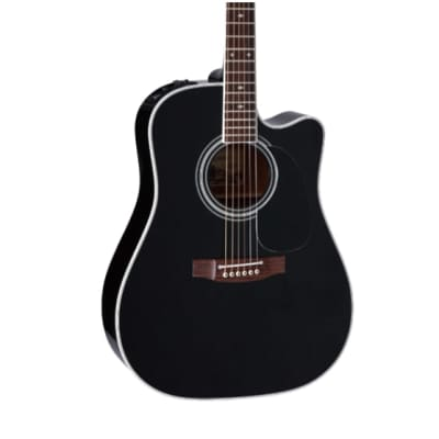Takamine Legacy Series Dreadnought Acoustic/Electric Guitar, Black for sale