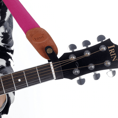 Acoustic Guitar Neck Strap Button Headstock Adaptor Synthetic Leather with Strong Metal Fastener