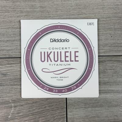 D'Addario EJ87C Pro-Arté Titanium Ukulele Strings, Concert
