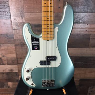Fender American Professional II Precision Bass LEFTY Mystic Surf Green, NEW IN BOX, Free Ship, 520