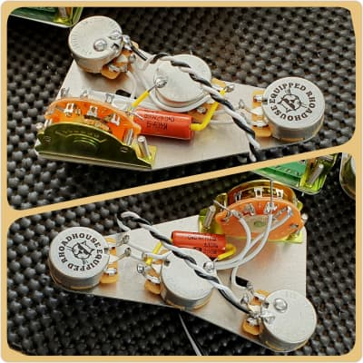 FSGuitars @ The Rhoadhouse Replacement Fender Stratocaster Strat wiring harness loom upgrade kit