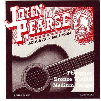 John Pearse 700M Medium Phosphor Bronze Acoustic Guitar Strings