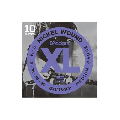 D´Addario EXL115-10P 11-49 Electric Strings Set