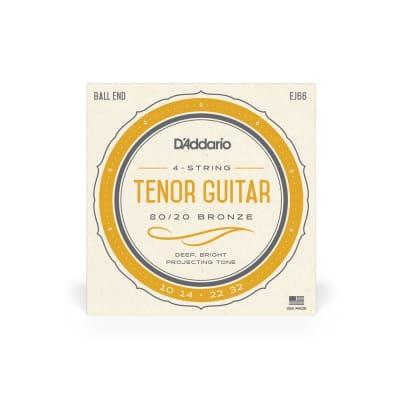 D'Addario EJ66 80/20 Bronze 10-32 Ball End 4-String Tenor Guitar Strings